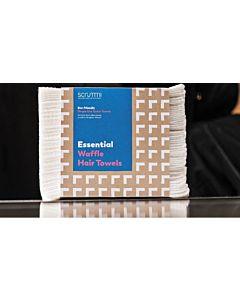 Scrummi Essential Waffle White Hair Towels 80x40cm 700 stuks