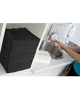 Scrummi Waffle Black Hand Towels 700 stuks